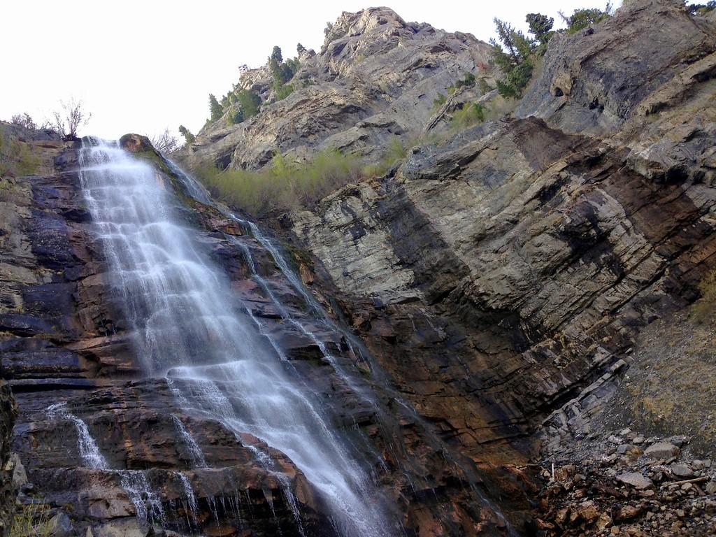 Bridal Veil Falls Upper Falls in Provo, Utah