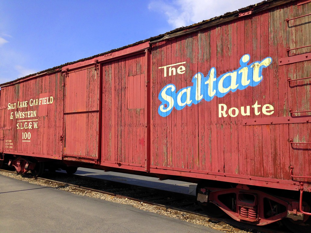 Red Saltair Route Train Car at the Heber Valley Railroad in Utah