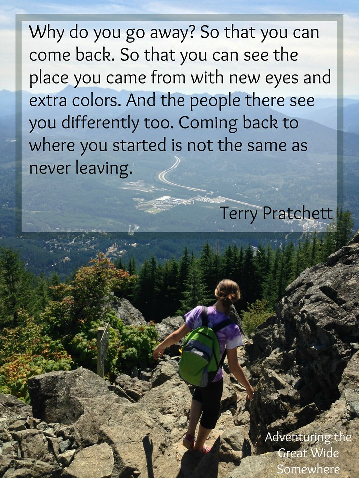 Terry Pratchett Why Do You Go Away Quote
