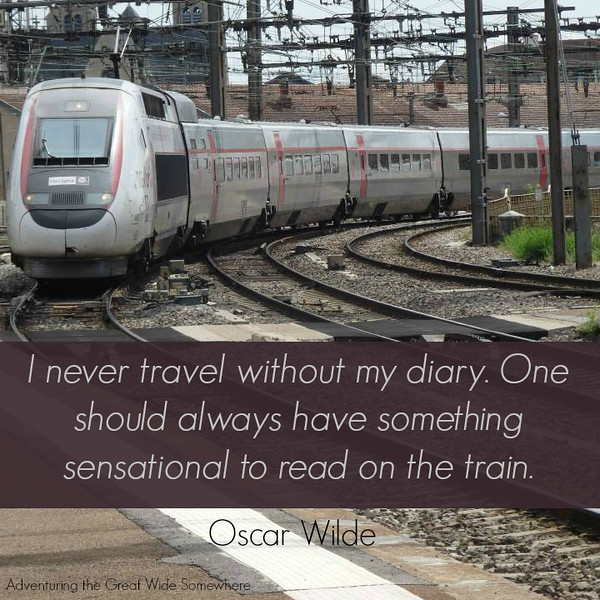 Oscar Wilde I Never Travel Without My Diary