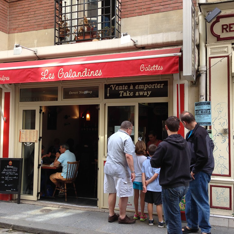Crepes From Les Galandines Near Notre Dame, Paris