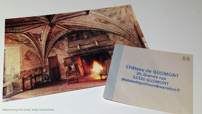 Postcard and Address for the Chateau de Gudmont France