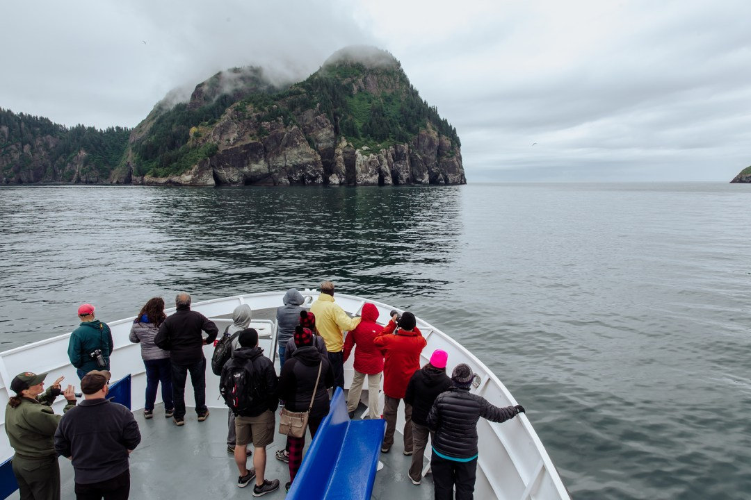 Passengers on a major marine tour of Kenai Fjords National Park out of seward, Alaska. Taken by Kimberly Kendall of Clicking with Kim
