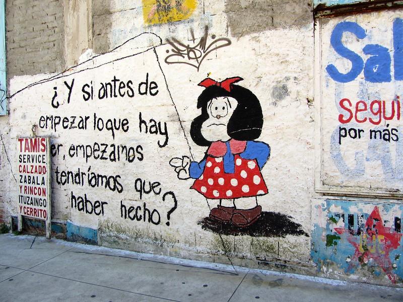 Spanish street art in Montevideo, Uruguay