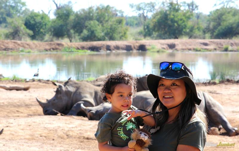 非洲动物园和非洲动物园的小男孩