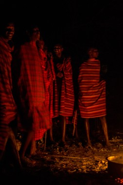 Experiencing an evening of Maasai song over a campfire