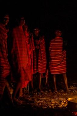 Experiencing an evening of Maasai song over a campfire