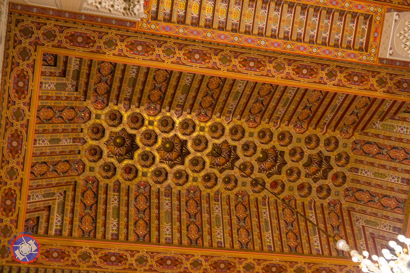 Part of the Hand Carved Cedar Ceiling of the Hasan II Mosque in Casablanca (©simon@myeclecticimages.com)