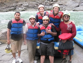what it's like to whitewater raft in rishikesh