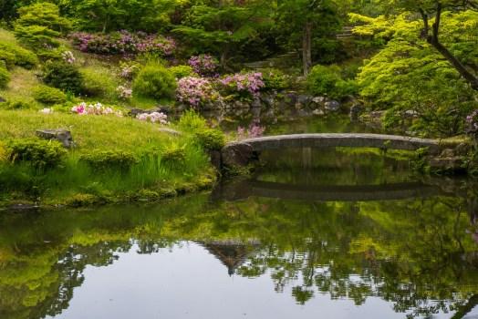 Isuien Garden in Nara japan