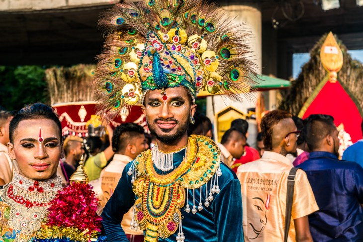 Made up for presentation to the gods. Thaipusam 2017