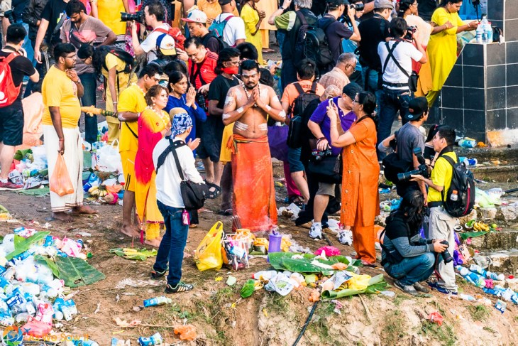 preparing for then journey at Thaipusam 2017