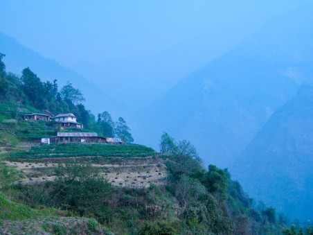 villages in rural nepal while trekking