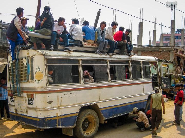 buses in kathmandu broken down