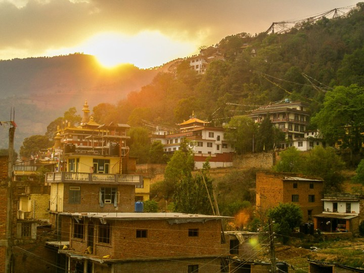 Sunset over Pharping, Nepal