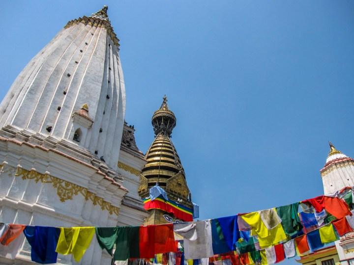 Flags at Swayambhunath