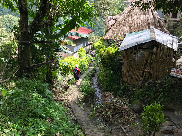 the hike down to Batad - Philippines