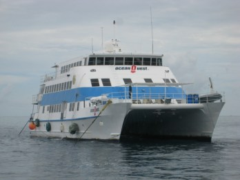 Our liveaboard dive boat on the Great Barrier Reef