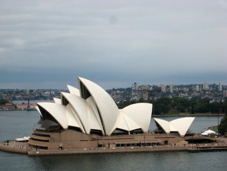 A stormy day at the Sydney Opera House