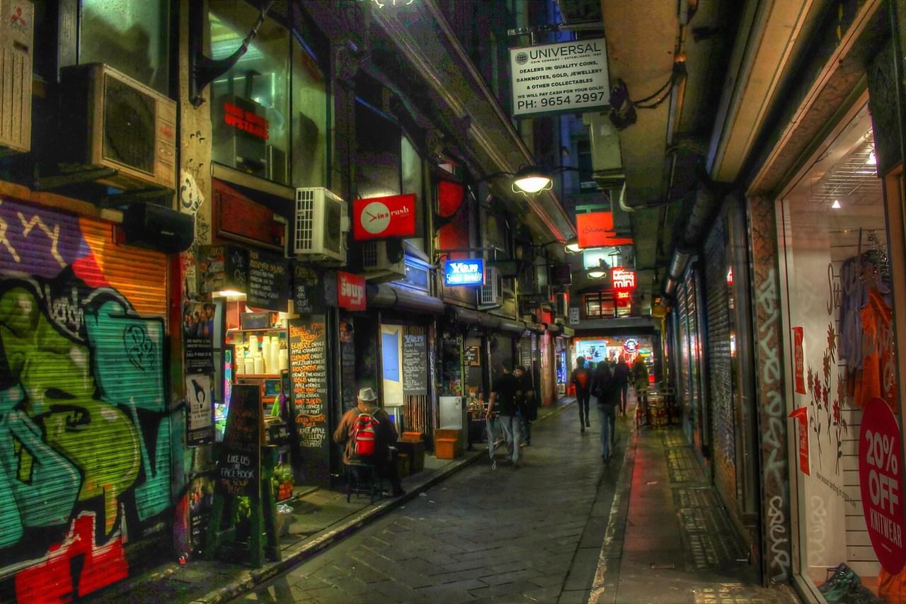 Colourful lane way in Melbourne, Australia