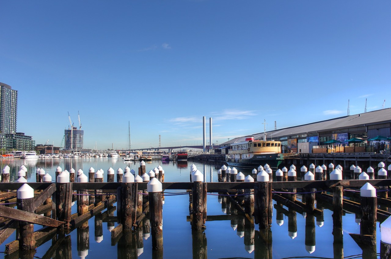 Habour at Docklands in Melbourne, Australia