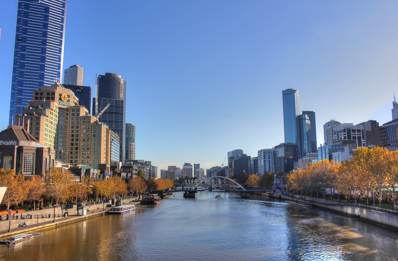 Yarra River, Southbank and the Melbourne CBD