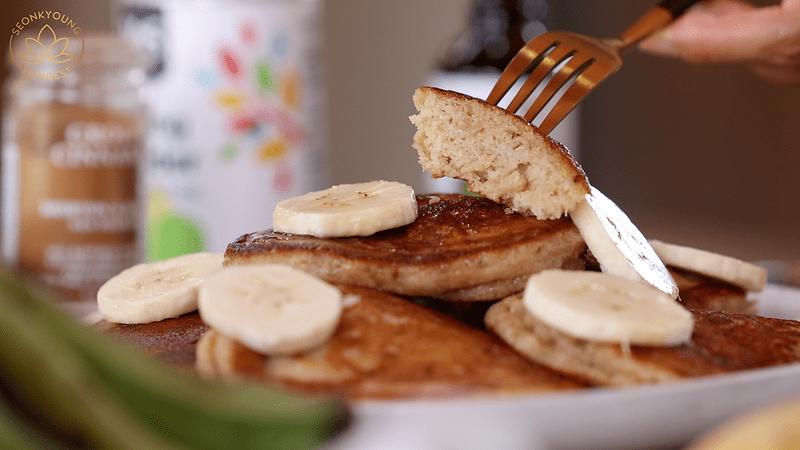 Fluffiest Banana Pancakes Vegan