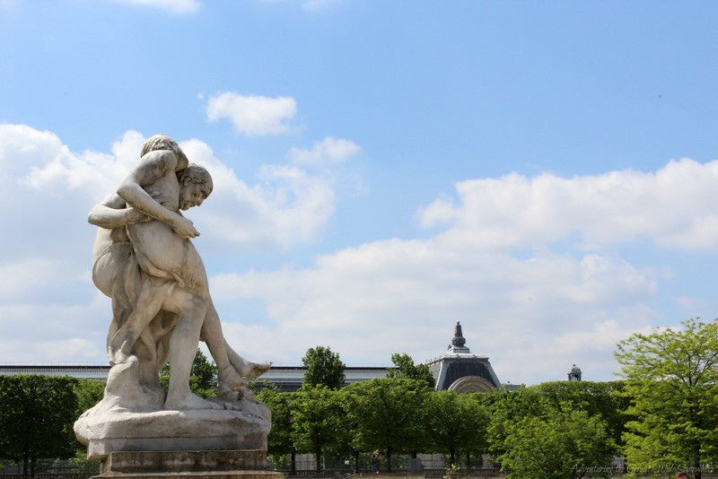 One of the Many Statues in the Tuileries Gardens