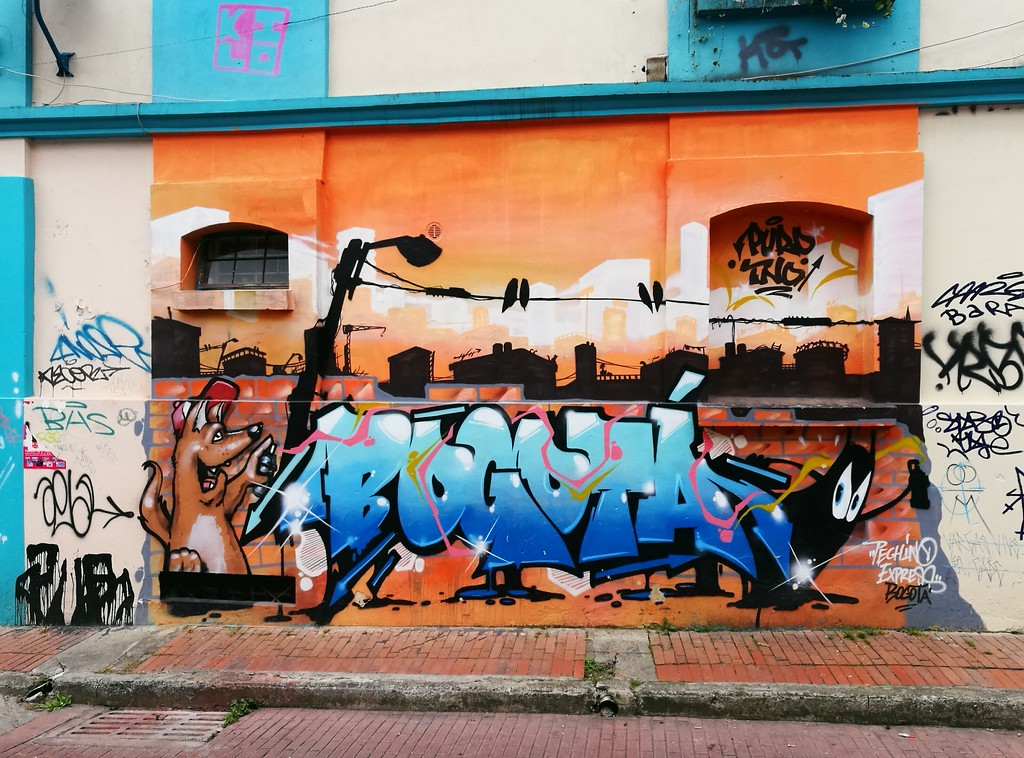 Representing Bogota through street art words