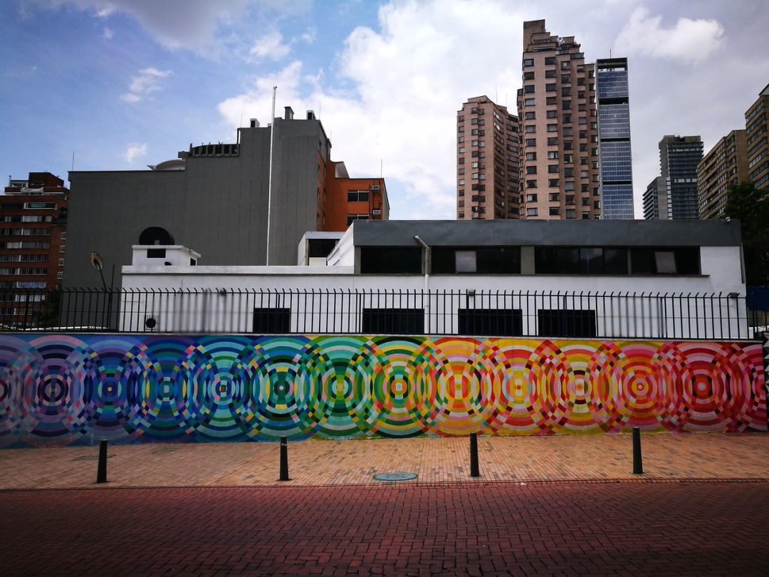 Painted with anti-graffiti paint this piece shows that street art in Bogota is here to stay