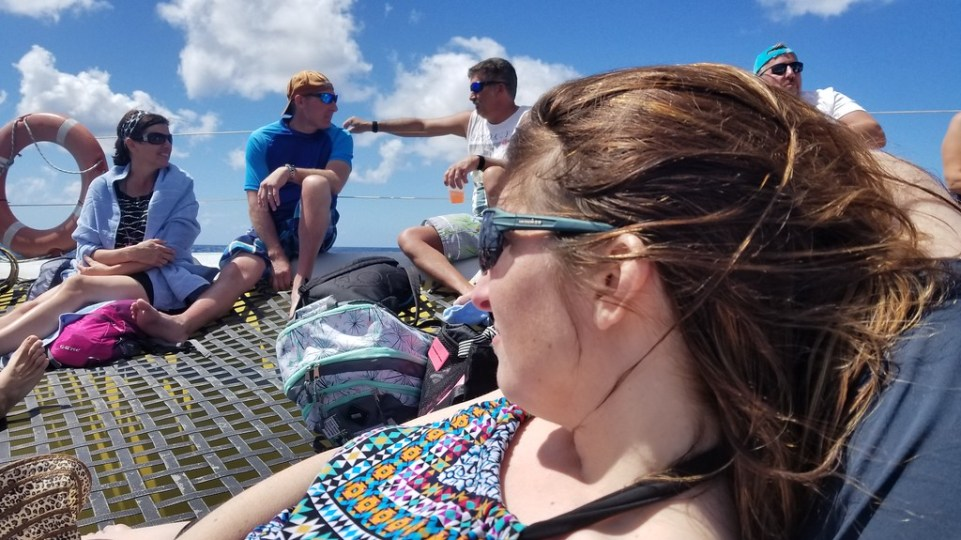 Relaxing on catamaran in St. Kitts & Nevis - RoarLoud.net
