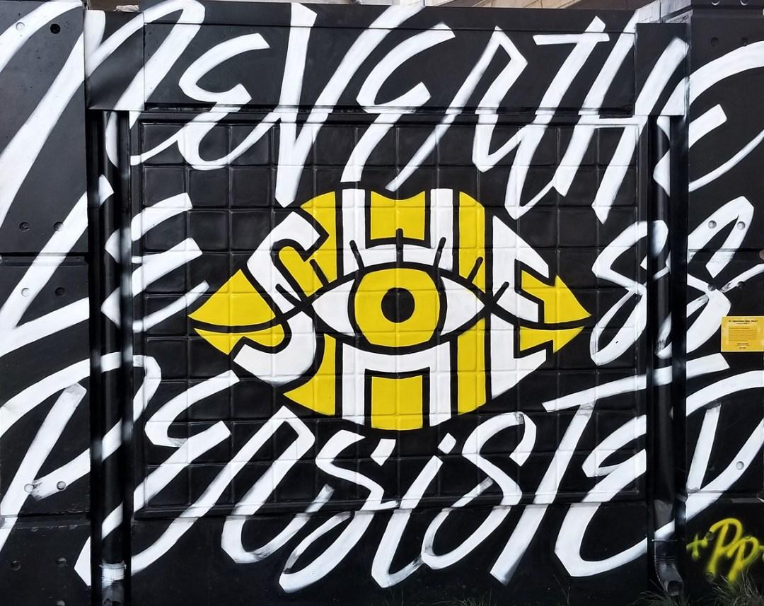 Street art mural at Ink Underground Block