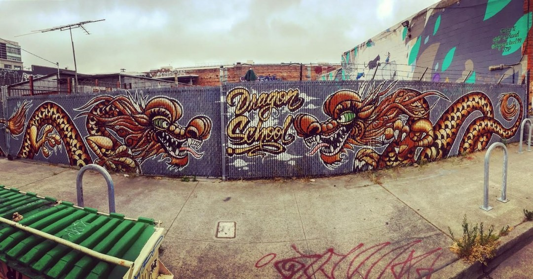 dragon school street art