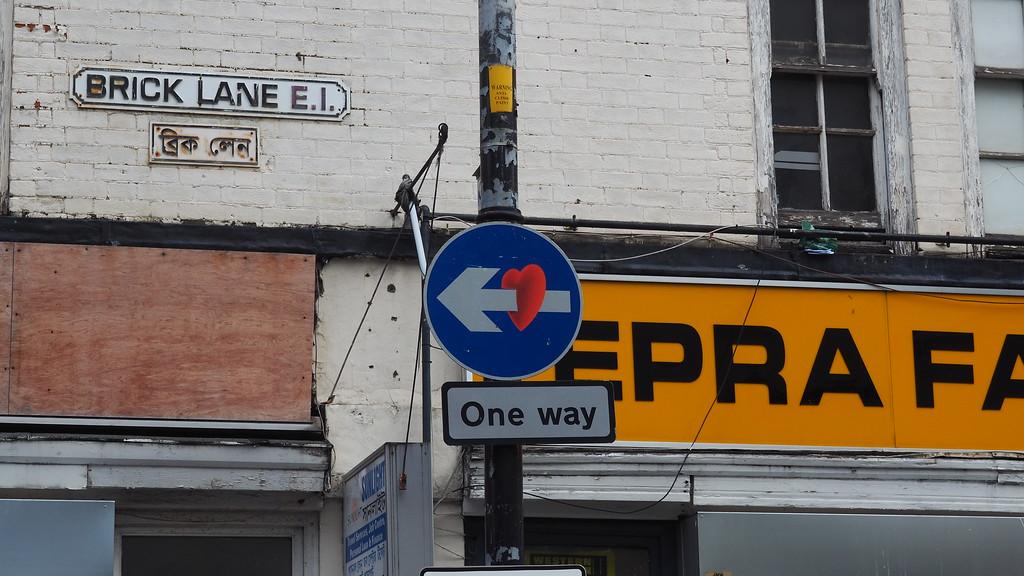 street sign street art in London