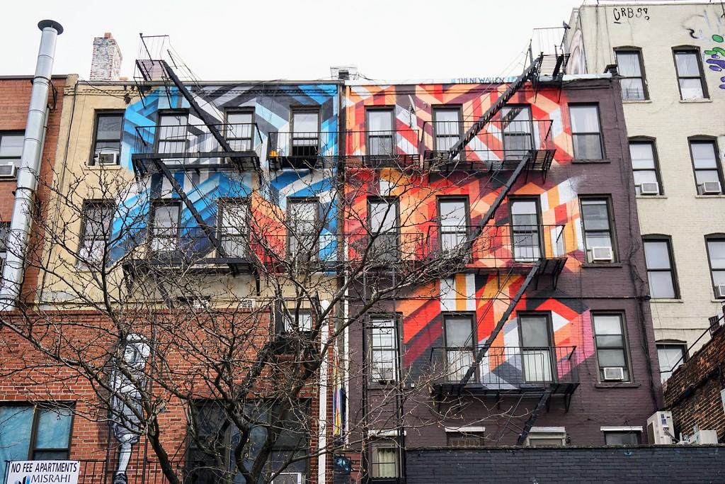 street art Mural by Mr. June from December 2017 in New York City