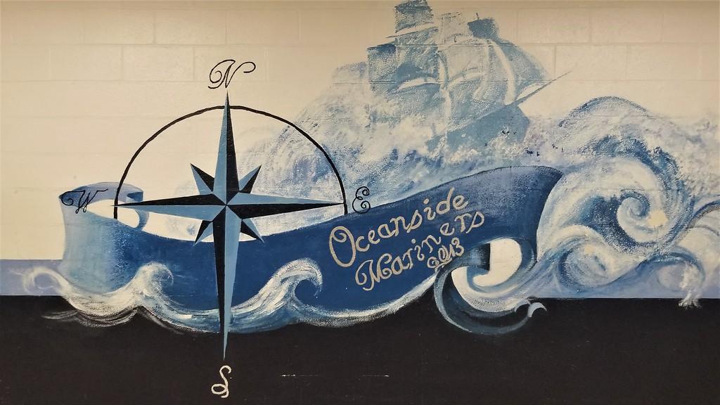 Mural at Oceanside High School Rockland Maine