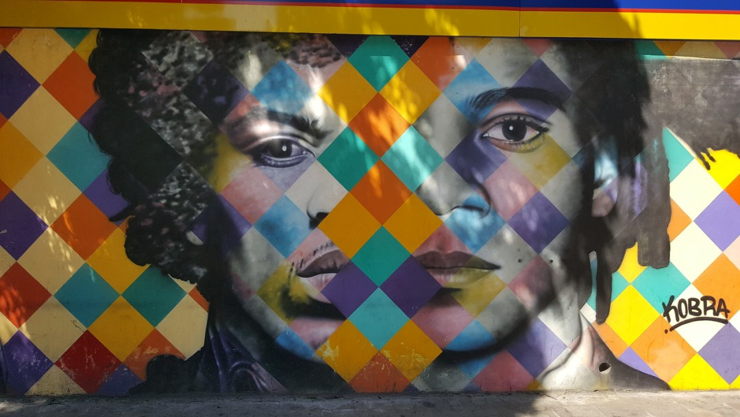 Street art mural by artist Kobra