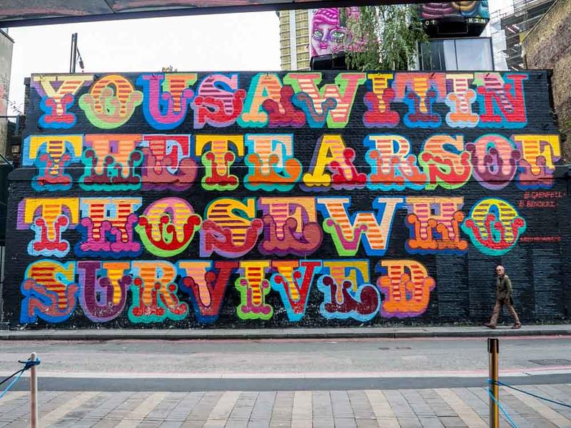 Best street art in London by Ben Eine