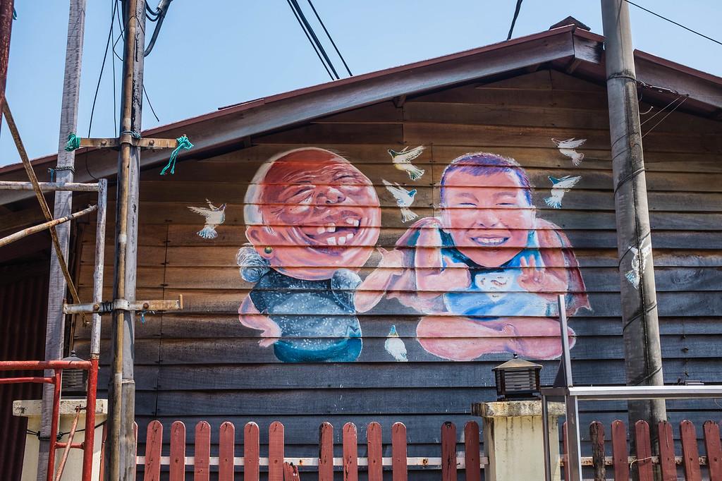 Simon Tan - Amah and Asoon street art in Malaysia