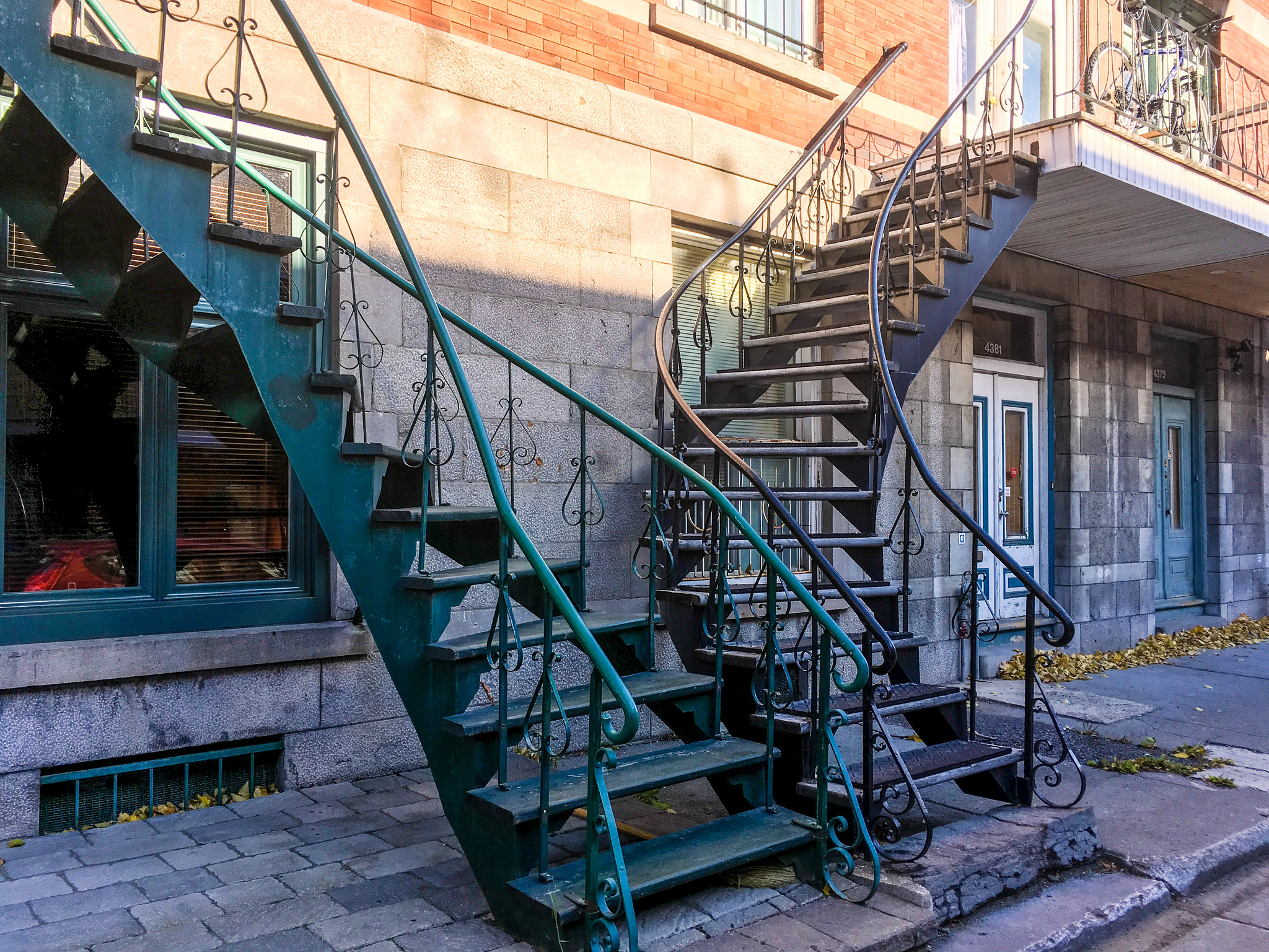 exploring alone in montreal? check out the iron staircases