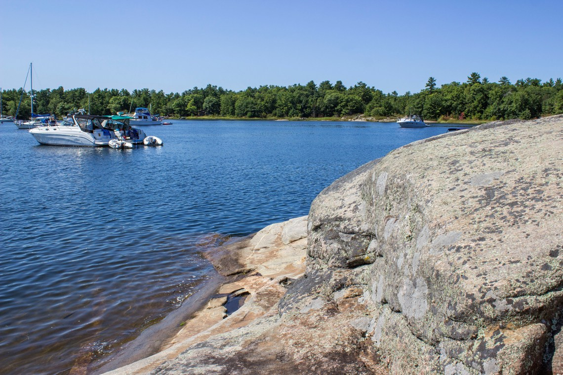 Georgian Bay Islands National Park, Canada. Hiking Beausoleil Island.