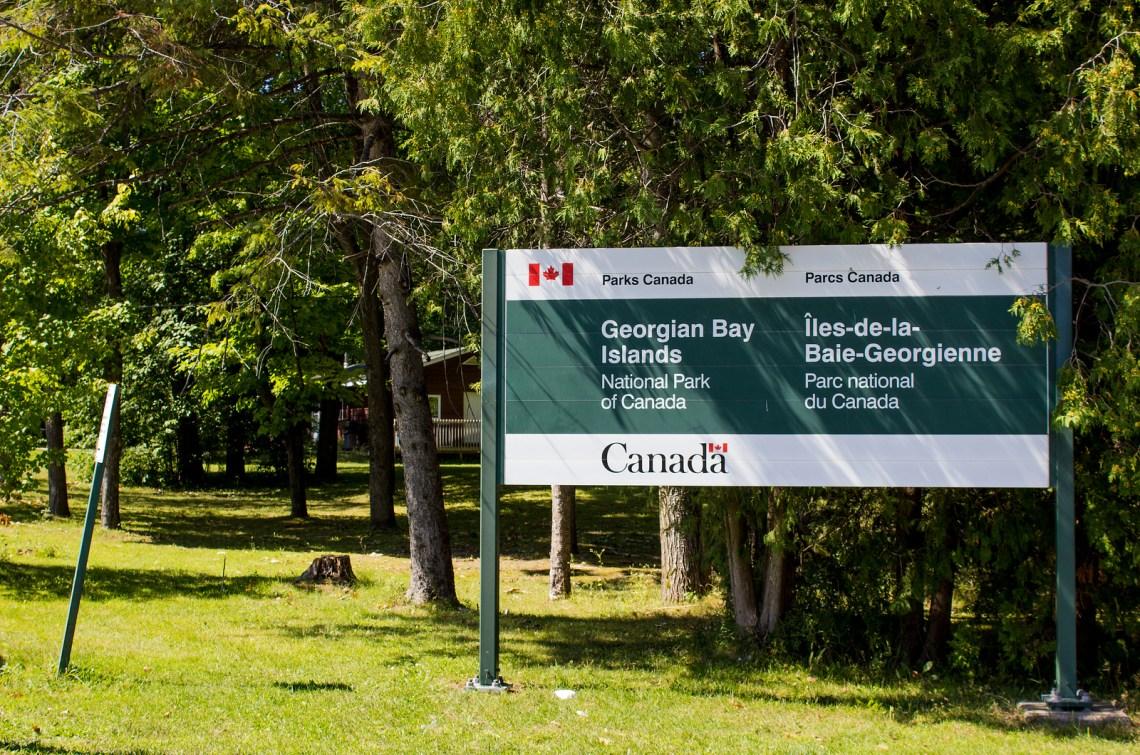Georgian Bay Islands National Park, Canada. Hiking Beausoleil Island.