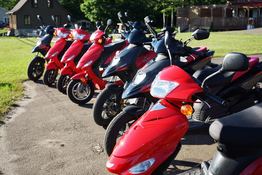 Rent a scooter and explore Ile d'Orleans!