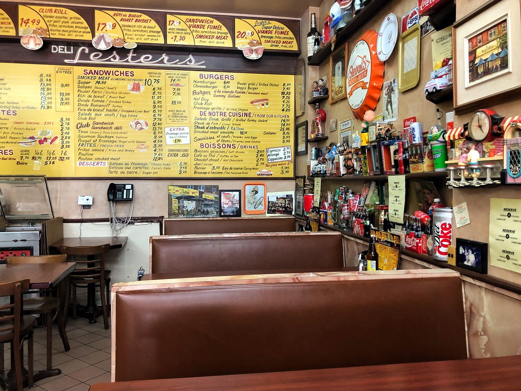 The menu at Lester's Deli in Montreal's Outremont neighbourhood.