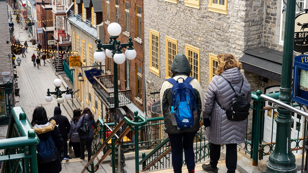 Escalier Casse-Cou in Old Quebec City