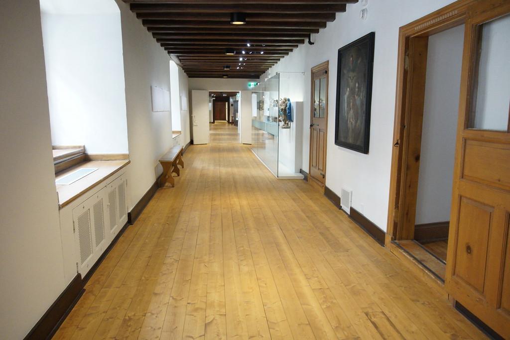 Walking through the museum in Monastère des Augustines
