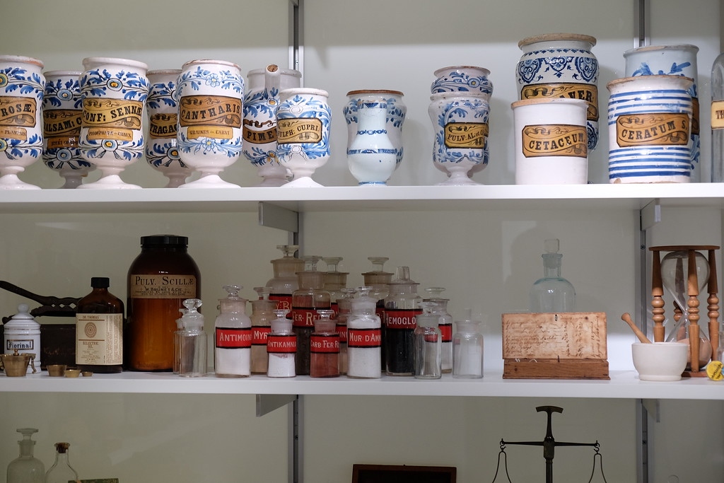 Apothecary at the museum in Le Monastère des Augustines in Old Quebec City.