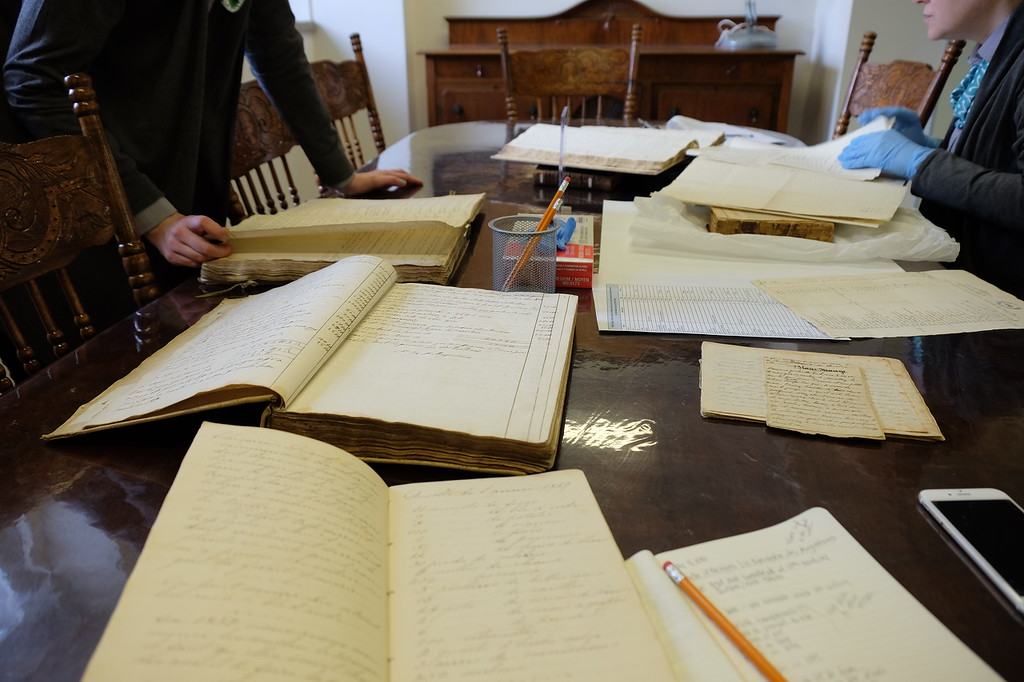 Searching the archives at Monastère des Augustines