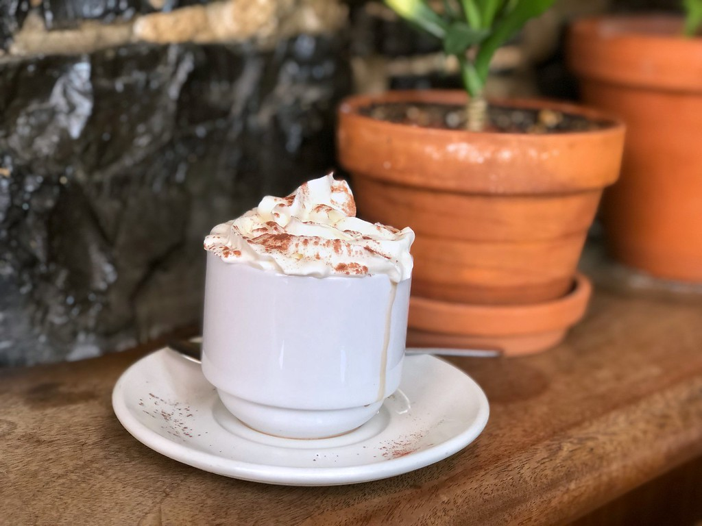 Hot chocolate at Chez Temporel on rue Couillard in Old Quebec City