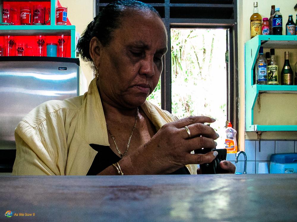 Woman in Roseau Dominica